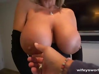 Her Boobs Juggle and She Guzzles Eternally Droplet