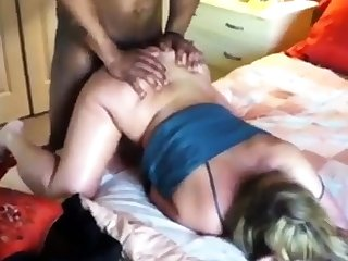 Wife Grunting From a Grown Black Dick