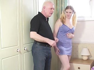 Blonde chick Mona B gets talked come by sucking and riding a dick