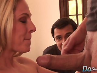 Cuckold Couldnt Be Happier as Busty Wife Angela Attison Gets Her Ass Fucked