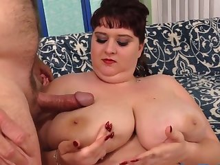 Fat Mommy with Huge Natural Bowels Shanelle Savage Gets Dearest and Boned