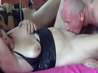 Horny German couple drag inflate added to lick before fucking