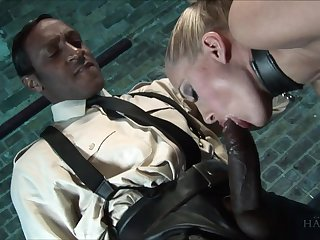 Well done Black plus white DP porn featuring insatiable virago Angel Long