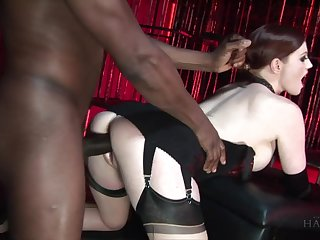 White mistress with girth skin Holly Fondling fucks ebony submissive toff