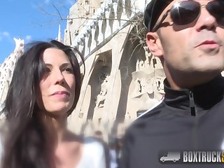 Barcelona fucking - dirty bitch has sex in box reciprocation - Spanish brunette alexa tomas