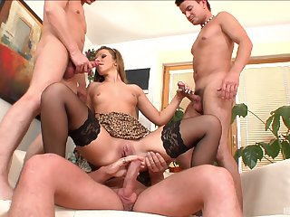 MILF ass fucked by two and jizzed in insane modes