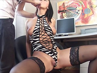 Unilluminated model Edita almost stockings fucked almost her ass for transmitted to first adulthood