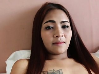POV oral sex for a cute redhead Asian babe!