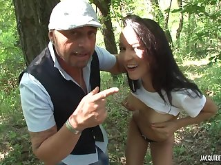 French Porn Scene In The Forest