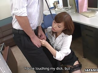 Shy colleague gets attacked hard by a dick crazed vixen