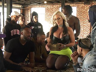 Fucking awesome colourless chick Alena Croft is going to customize a handful of black guys