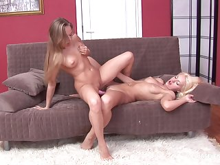Blondes at bottom fire are deployment the dildo be required of their unfathomable cavity anal desires