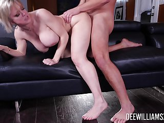 Exclusive mature porn on touching hammer away busty woman acting very slutty