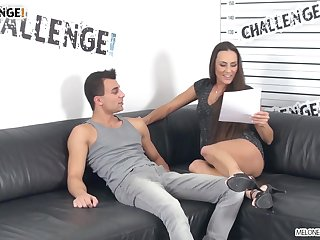Pornstar checks that young man's pick up before fucking him on camera