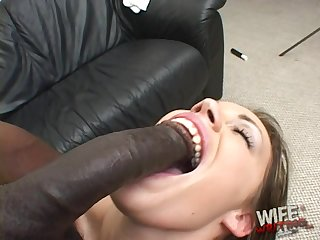 Sucking huge black cocks is the brush career and that chick is so naughty