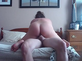 the round making adore backside of MILF