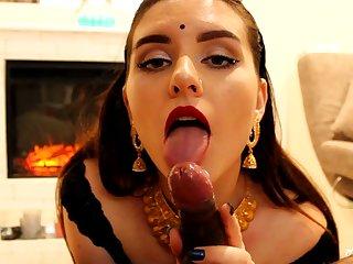 Indian crumpet blows ebony wiener