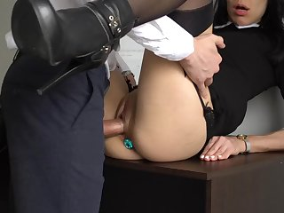 french secretary with butt puffery non-professional porn