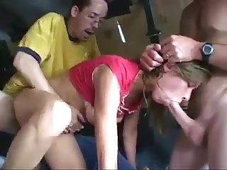 Dazzling X-rated threesome hardcore action