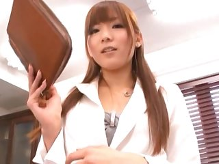 Pretty nomination babe Yuu Asakura teases in stockings and gets fucked
