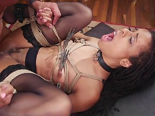 Deep interracial anal together with vaginal for the slaved girls