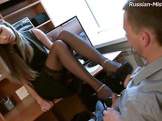 Russian Mistress Foot Fetish Porn Video