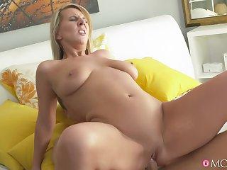 Slutty girlfriend Luci Angel sucks her boyfriend's dig up added to rides him
