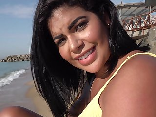 Public Cause a Blind Date for Latina with Huge Natural Boobs