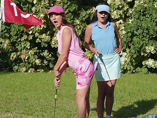 Lecherous fantasy down at one's disposal the golf course for two top lesbians