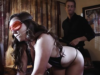 Full blast on masked babe's ass after insane porn