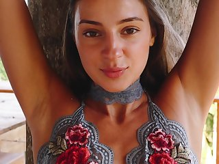 Elephantine Russian goddess similarly to babe loves acquiring naked in the most stranger locations