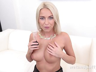 Carol Blonde in Handsome in Stockings at PuffyNetwork