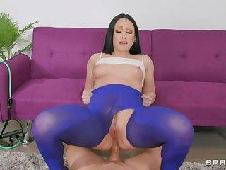 BRAZZERS Ms. Sallow  s Yoga Pants Teared 4 Ass